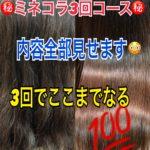 ミネコラ3回コース終了レポート 美髪への軌跡